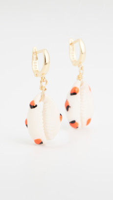 Maison Irem Shelly Orange Dot Earrings