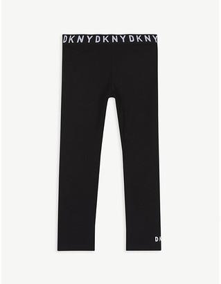 DKNY Logo waistband cotton leggings 4-16 years