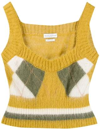 Ballantyne Argyle Knit Top