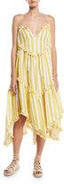 Zimmermann Lumino Floating Stripe Linen Coverup Dress