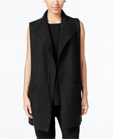 Eileen Fisher Wool Open-Front Vest