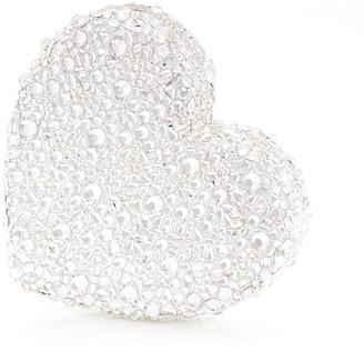 Judith Leiber Heart Crystal Clutch Bag