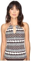 Lauren Ralph Lauren Primitive Stripe Halterkini Top Women's Swimwear