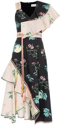 Peter Pilotto asymmetric floral dress