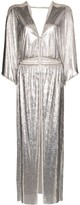 Paco Rabanne Chainmail V-neck split dress