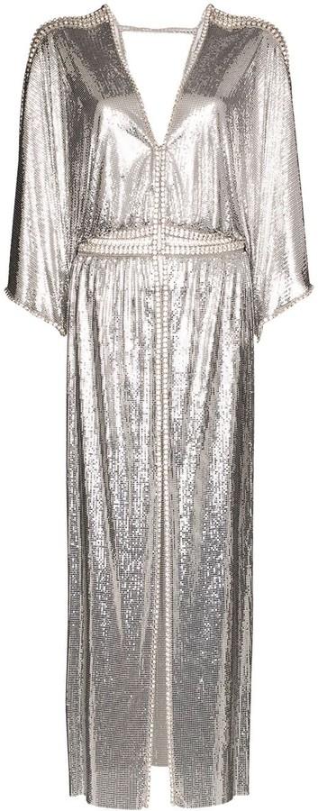 Paco Rabanne Chainmail V-neck split dress