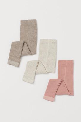 H&M 3-pack Ribbed Leggings
