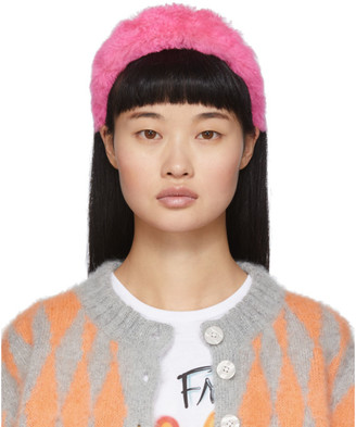 Ashley Williams SSENSE Exclusive Pink Alice Headband