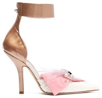 Midnight 00 Corset Cotton, Satin & Pvc Pumps - Womens - Pink White