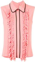 Marni ruffle trim sleeveless blouse - women - Silk/Acetate - 38