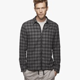 James Perse Zip Front Plaid Shirt