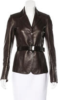 Gucci Leather Belted Blazer