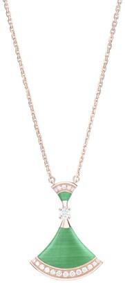 Bvlgari Rose Gold Malachite and Diamond Divas' Dream Necklace