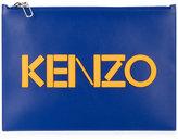 Kenzo Paris clutch - men - Cotton/Calf Leather/Nylon - One Size