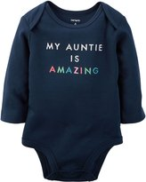 Carter's Baby Clothing Outfit Girls Amazing Auntie Collectible Bodysuit 6M