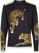 Dolce & Gabbana Leopard Motif Long Sleeve Top