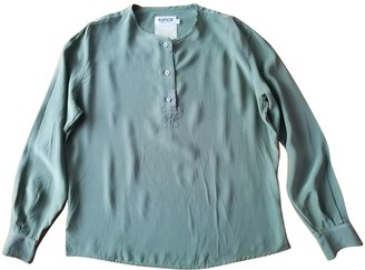 Aspesi Green Silk Top for Women
