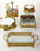 Godinger Gold-Tone Pierced Salad Plate Holder