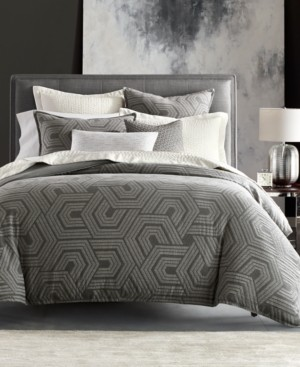 Hotel Collection Closeout! Textured Hexagon King Duvet, Created for Macy's Bedding