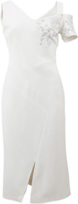 Antonio Berardi Off Shoulder Embroidered Dress