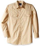Wrangler Men's Big and Tall Wrinkle Resist Western Long Sleeve Woven Shirt