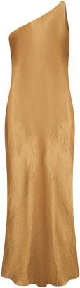 Third Form Running Water Bias-Cut One-Shoulder Satin Slip Dress