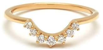 Anna Sheffield White Diamond Grand Tiara Ring - Yellow Gold