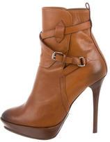 Ralph Lauren Pointed-Toe Platform Ankle Boots