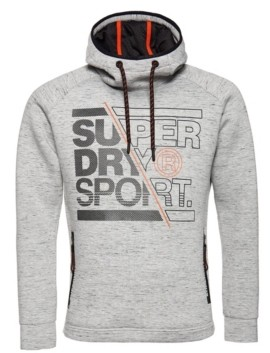 Superdry Men's Gym Tech Stretch Graphic Overhead Hoodie
