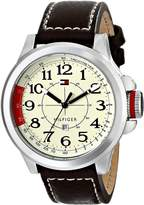 Tommy Hilfiger Men's 1790844 Sport Stainless Steel and Khaki Brown Leahter Watch