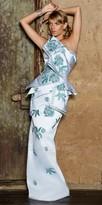 Nika Strapless Embroidered Draped Zen Gown