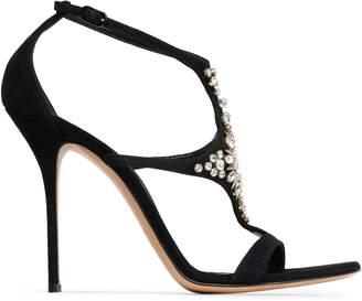 Casadei Crystal-embellished Suede Sandals