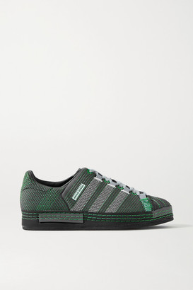 adidas + Craig Green Superstar Embroidered Suede Sneakers - Dark gray
