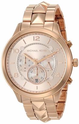 Michael Kors Women's Runway Mercer Quartz Watch with Stainless Steel Strap Rose Gold 18 (Model: MK6713)