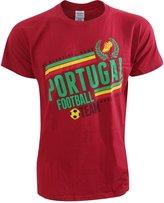 Universal Textiles Mens Short Sleeve Portugal Football Design T-Shirt