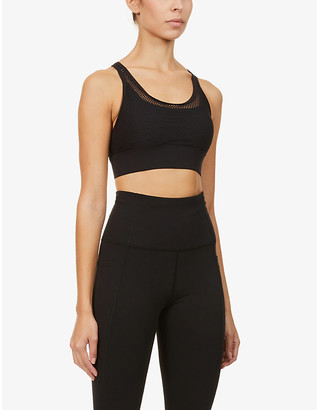 Lorna Jane Athletic mesh-overlay stretch-jersey sports bra
