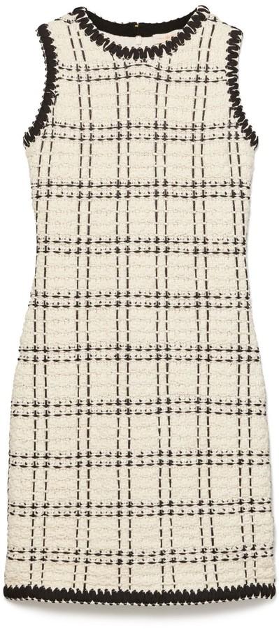 Tory Burch Sleeveless Tweed Dress
