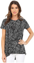 Vince Camuto Short Sleeve Scattered Fragments High-Low Hem Top