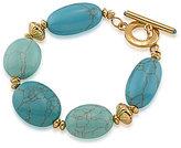 Lauren Ralph Lauren Paradise Found Turquoise Stone Line Bracelet