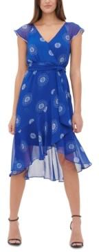 Tommy Hilfiger Daisy Chiffon V-Neck Dress