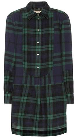 Burberry Checked wool dress