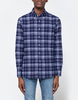 Gitman Brothers 1-Sided Check Flannel in Navy