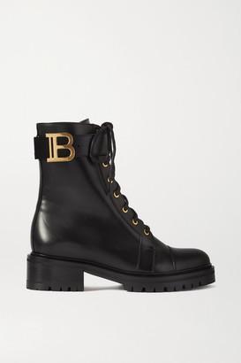Balmain Ranger Lace-up Leather Boots - Black