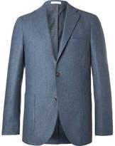 Boglioli Blue Slim-Fit Mélange Virgin Wool Blazer