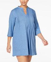 DKNY Plus Size Draped Sleepshirt