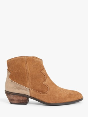 AND/OR Patrone Western Ankle Boots, Tan