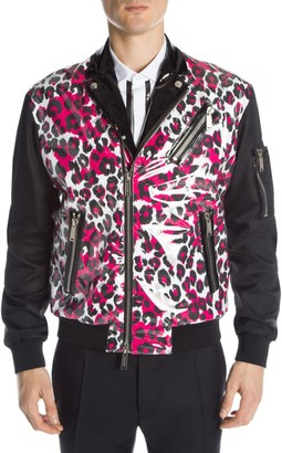 DSQUARED2 Leopard Moto Jacket