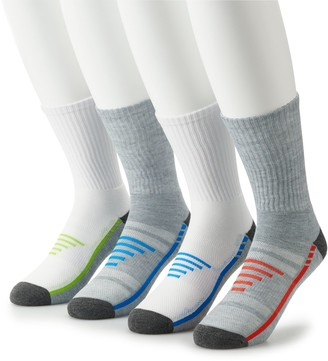 Tek Gear Big & Tall 4-pack Cushioned Performance Crew Socks