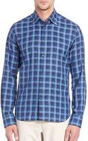Saks Fifth Avenue Men's Windowpane Checked Long Sleeve Shirt
