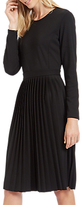 Jaeger Jersey Pleated Dress, Black